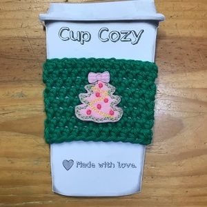 Handmade Crochet Coffee Cup Cozy/Mason Jar Holder